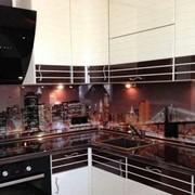 Стеклянные фартуки для кухни на заказ фото