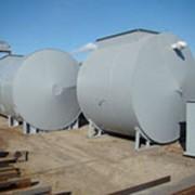Производство резервуаров, горизонтальные стальные резервуары фото