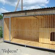 Вольер 3м х 2м х2м с утепленной будкой. фото