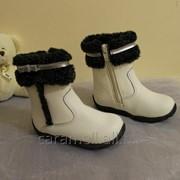 Демисезонные сапоги для девочки Белые Размер 24 - 30 фото