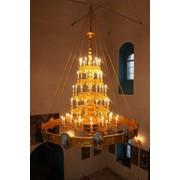 Паникадило пяти ярусное на 72 свечи с хоросом фото