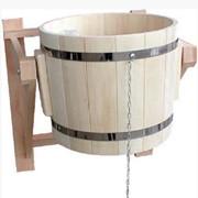 Обливное ведро или обливное устройство для бани с пластиковым вкладышем на 22 л фото