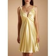 Прокат выпускного платья Nicole Miller Deep Vneck sik dress Champagne фото