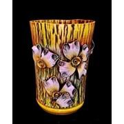 """Горшок для цветов из керамики ручной работы """"Дубок большой цветы"""" фото"""