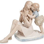 Статуэтка Мама с дочерью 20х15х10см. арт.JP-15/38 Pavone фото