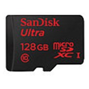 Карта памяти MicroSD 128GB SanDisk UHS-I (класс 10, 80 Мб /сек) фото