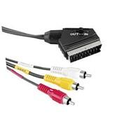Аудио-видео кабель переключатель вход-выход с разъёма SCARTшт. на 3RCAшт. - 1.5 метра фото