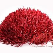 Помпон металлик красный фото