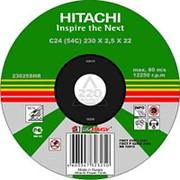 Круг отрезной HITACHI 115*1,2*22 А54 отрезной металл /50/400/ фото