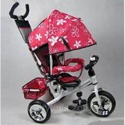 Велосипед детский трехколесный с родительской ручкой Profi Trike Profi Trike M 0449-3 фото