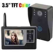 """Беспроводной домофон с ик-видеокамерой и ЖК-экраном 3,5"""" с возможностью сохранения фотоснимков фото"""