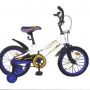Велосипед двухколёсный 16K147 - White with Blue фото