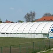 Строительство крытых спортивных залов. складом, промышленных объектов ТЕРМОМЕМБРАННЫМ ПОКРЫТИЕМ КРЫШ фото
