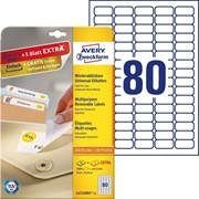 Этикетки Avery Zweckform удаляемые, 35,6 x 16,9 мм, I-J+L+K+CL, белые, 25 листов Белый фото