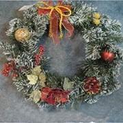 Новогодний, Рождественский веночек (большой) 470051 фото