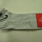 Мужские короткие носки Nike серый фото