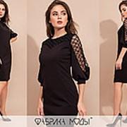 Женское платье приталенного кроя АК/-4122 - Черный фото