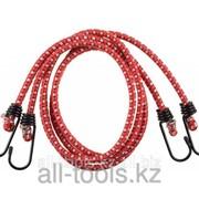 Шнур Зубр Мастер резиновый крепежный со стальными крюками, 80 см, d 8 мм, 2 шт Код:40507-080 фото