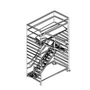 Вышка-тура с лестницами противоположного направления ALTEC AluLight 630, ширина помоста 1,35м, длина помоста 2,5м, робочая высота 6,30м. фото