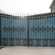 Ворота распашные с калиткой в Алматы фото
