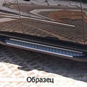 Пороги Chevrolet TrailBlazer 2012-2015 (алюминиевые Sapphire) фото