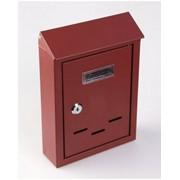 Ящик почтовый 38012 винно-красный фото