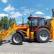 Экскаватор погрузчик на базе трактора Беларус-92П Амкодор 703 М (ЭО-2626) фото