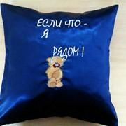 Декоративная авторская подушка фотография