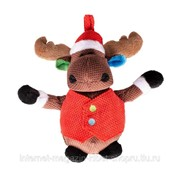 Игрушка для собак мягкая Новогодний Олень в жилетке, коричневый DUVO+ фото