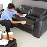 Химчистка офисной кожаной мебели фото