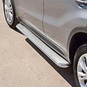 Пороги Suzuki Vitara 2015-наст. время (лист труба 42 мм нерж. сталь) фото