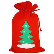 Мешок для подарков из флиса с аппликацией Елка фото