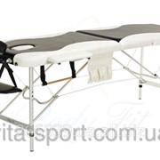 Стол массажный алюминиевый 2-х сегментный Body Fit Черный фото