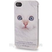 """Чехол """"Кот"""" для iPhone 4/4S, белый фото"""