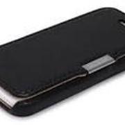 Чехол книжка iCarer Luxury Series (side-open) для iPhone 5C black (черный) фото