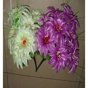 Цветок искусственный 12 цветков блестящей хризантемы Арт.055-2 фото