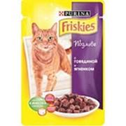 Корм для кошек FRISKIES в желе с говядиной и ягненком, 100г фото