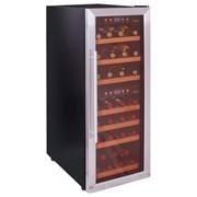 Двухтемпературный винный шкаф Cavanova CV038-2T фото