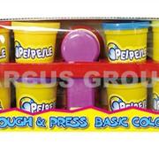 Пластилин-тесто Happy Dough. Запасной набор пластилина 8шт фото