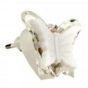 Uniel DTL-308 ночник 0.5W 3LED RGB Бабочка 220V, пластик, без выкл, BL фото