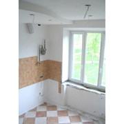 Монтаж из гипсокартона перегородок, потолков с предварительным изготовлением каркаса в два слоя кв. м фото