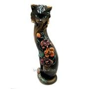 """Скульптура """"Кошка Глафира"""" Л015 фото"""