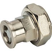 """STOUT Разъемное соединение с плоским уплотнением и обратным клапаном, никелированное 1"""" фото"""