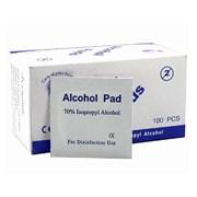 Спиртовые салфетки Alcohol Pads, в упаковке 100 штук (размер 65*56мм) фото