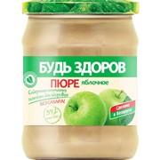 """Пюре фруктовое яблочное """"Будь здоров"""", 450г фото"""