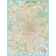 Настенная карта Москвы с каждым домом фото