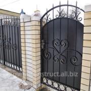 Ворота с элементами ковки №67 фото
