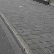 Установка поребрик тротуарных фото