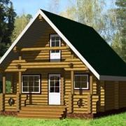 Деревянные дома, бани, беседки из оцилиндрованного бревна или из профилированного бруса фото