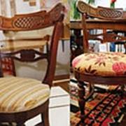 Перетяжка сиденья стула без спинки фото